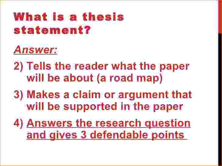 What Does Thesis Statement Look Like How Write Research Paper
