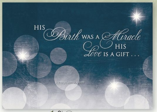 Inspirational Christmas Messages | Gift Of Love Religious Christmas Card W/  Lined Envelope