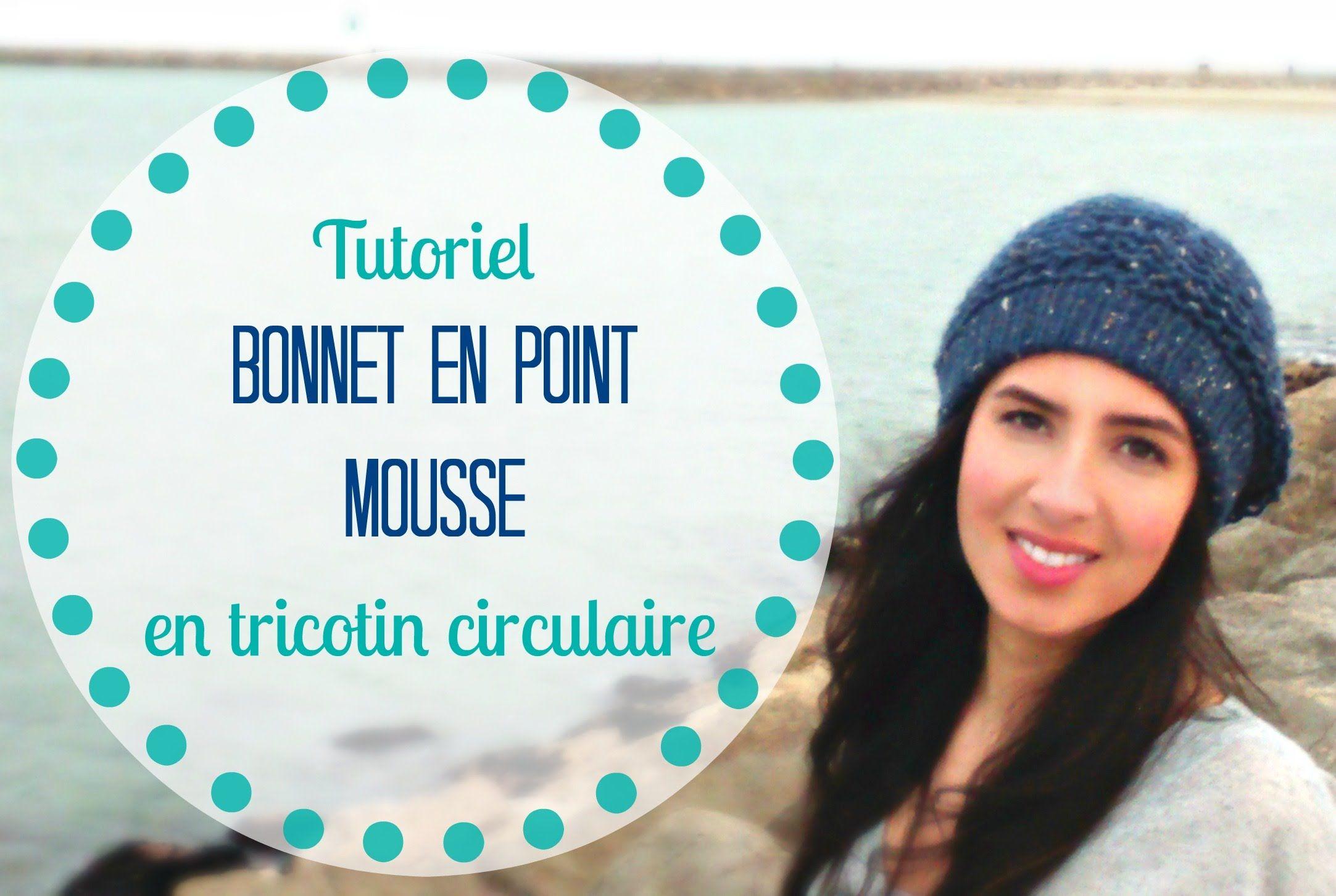 Tricoter Bonnet en point mousse en tricotin circulaire/rond