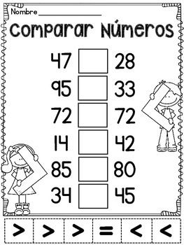 Comparar números (Comparando números) | Pinterest | Números, Escuela ...