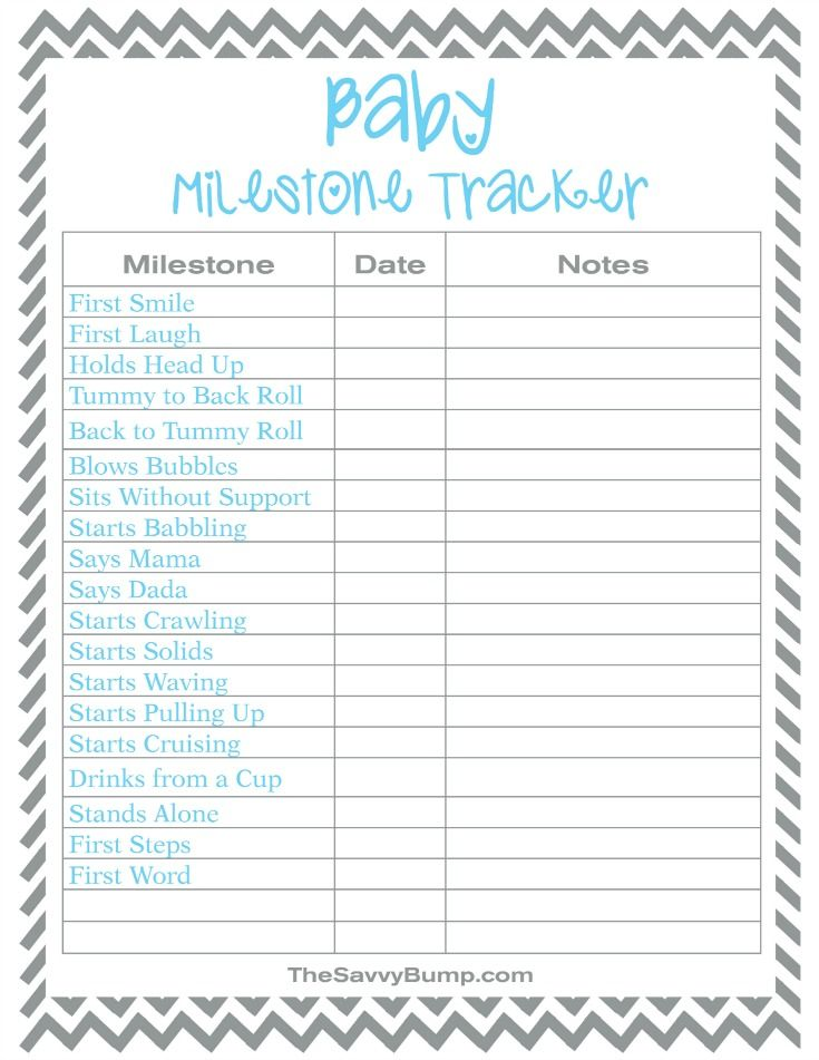 Free Printable Baby Milestone Tracker Future Baby Room Ideas