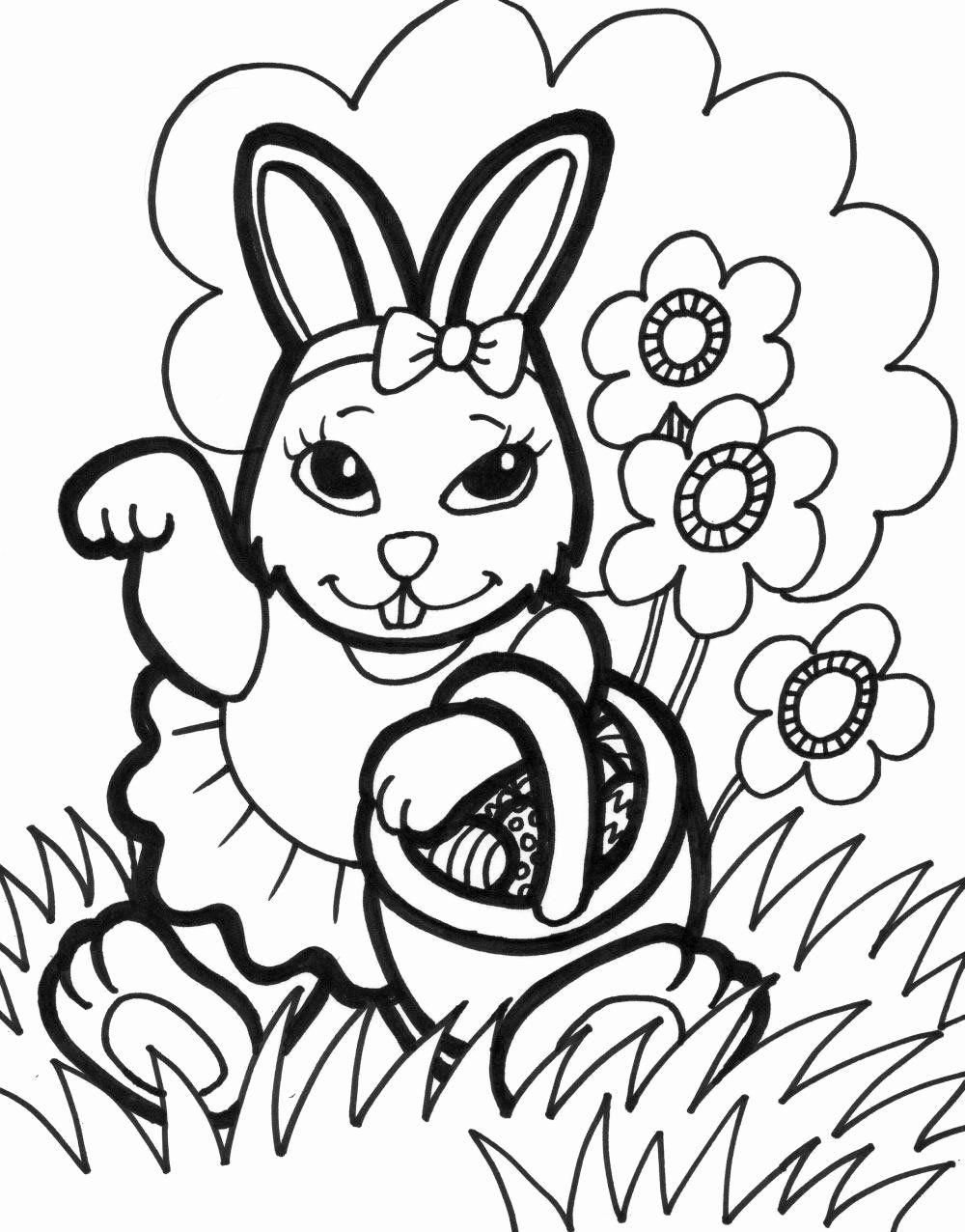 Spring Bunny Coloring Pages   Viati Coloring   Bunny coloring ...