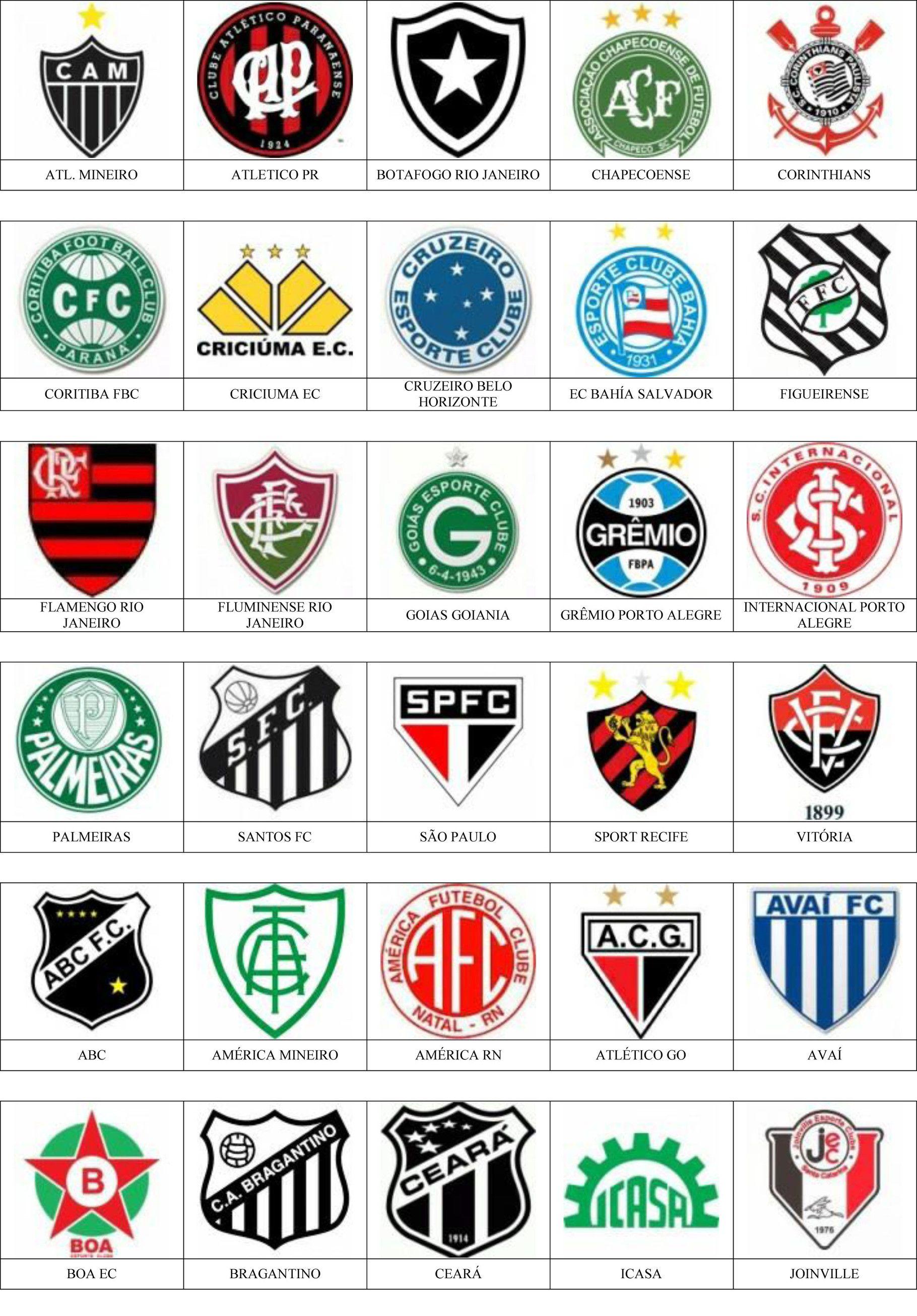 Brasil Pins De Escudos Insiginas De Equipos De Fútbol Equipo De Fútbol Escudos De Equipos Mundial De Clubs