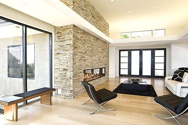 La chemin e de design 34 propositions originales ideal home deco d co int rieur salon et - Deco cheminee interieur ...