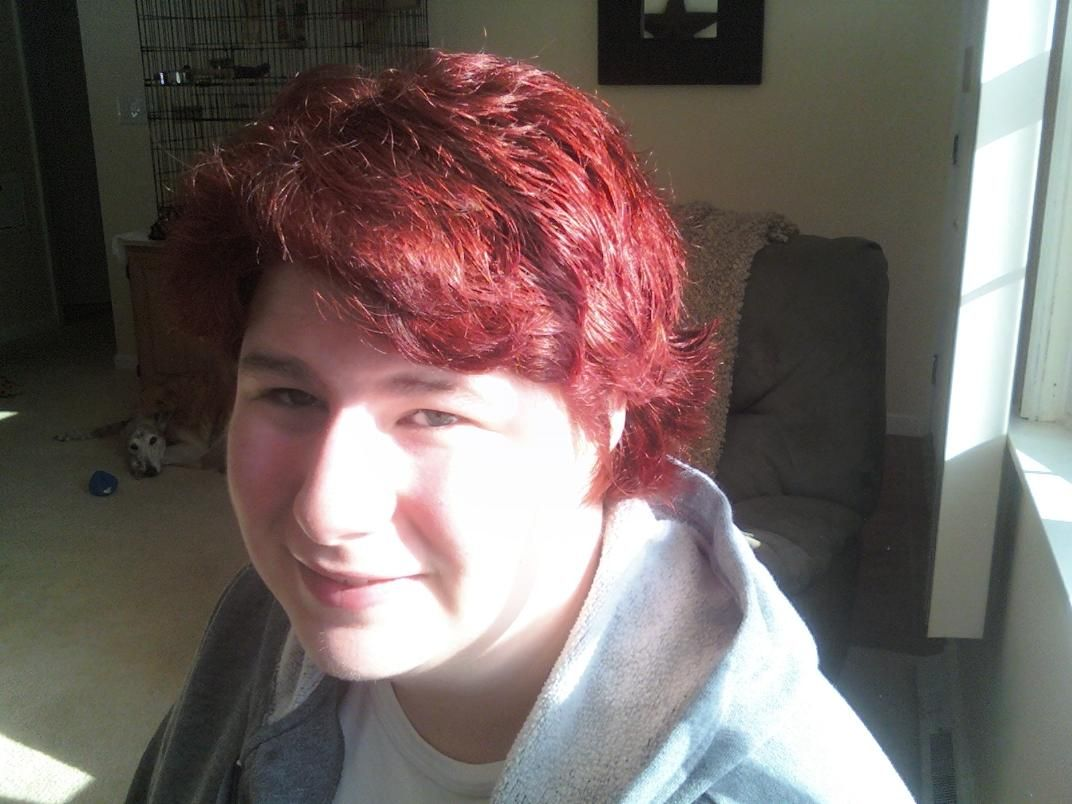 Had Red Short hair in 09.