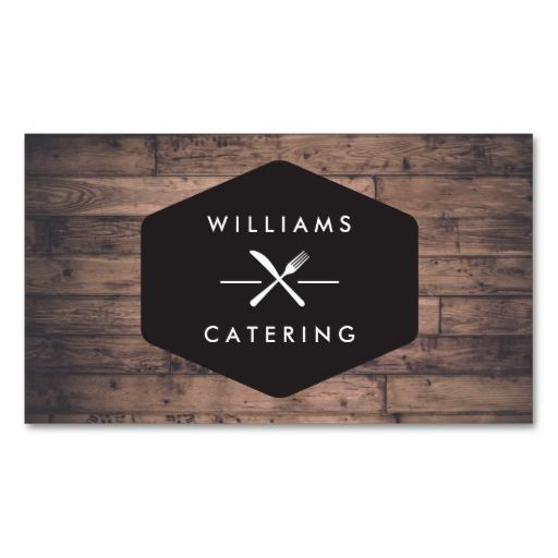 Rustic distressed wood fork knife intersect logo 2 business card reheart Choice Image