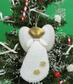 Wholesale Shell Angels Beach Christmas Ornaments With White Lima Lima Shells Packed 10 Pcs 1 60 Each Packed 30 Pcs 1 40 Each Beach Christmas Ornaments Christmas Ornaments Holiday Ornaments