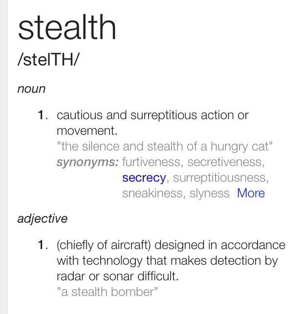 Stealthy Synonym