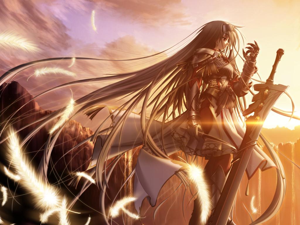 Girl X Sword By Airesnf Png 1024 768 Animasi Art Gambar Anime