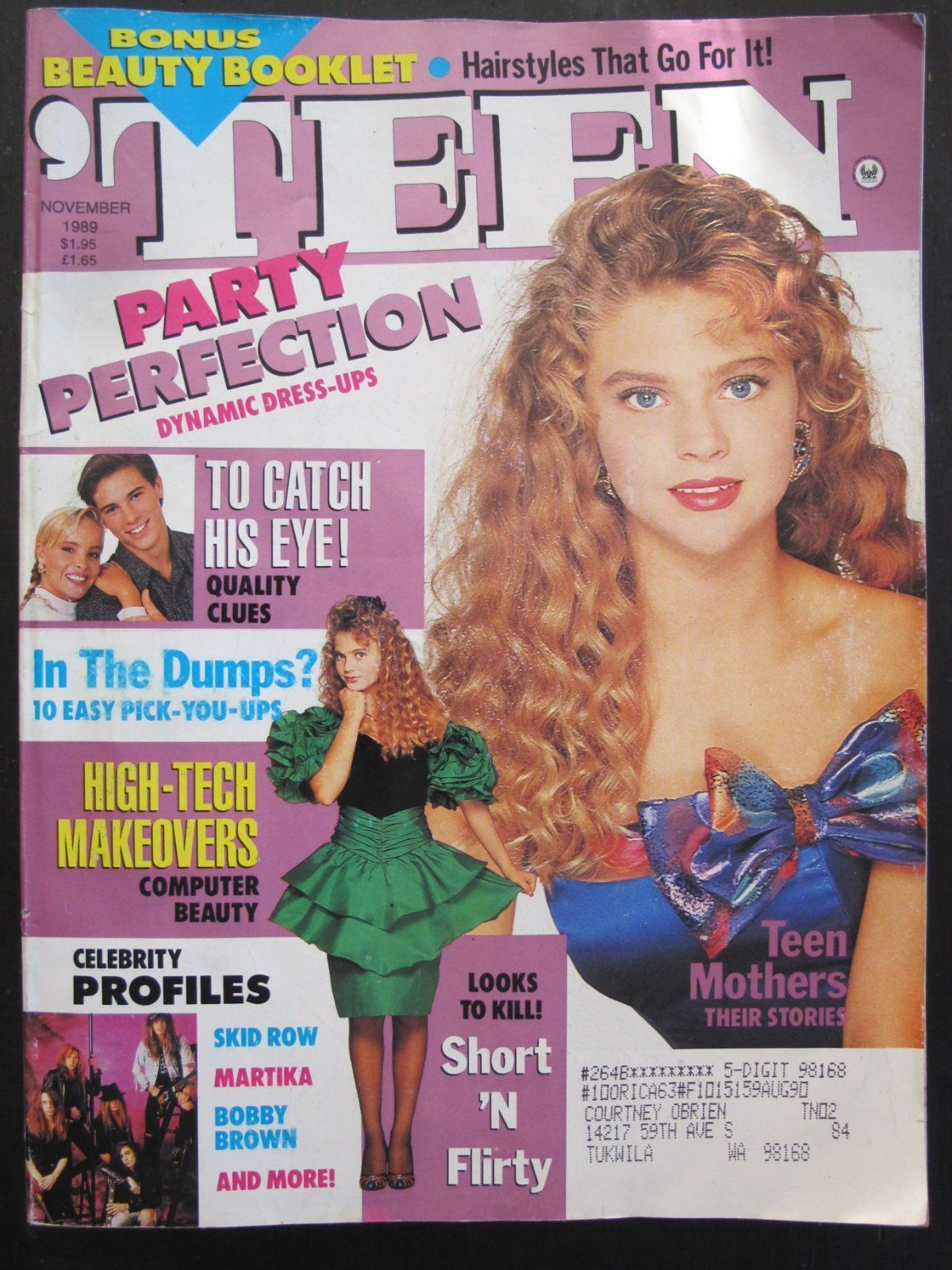 Teen Magazine November 1989 Jordan Ebay Teen Magazine