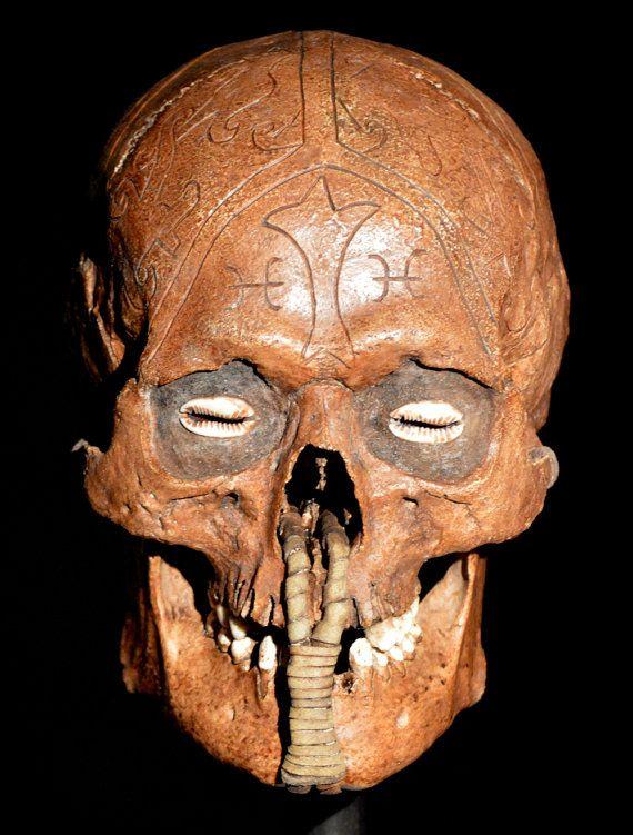 Dayak Skull Replica by artskulls on Etsy