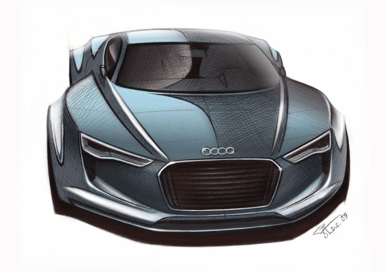 Audi E Tron Detroit Concept Sketch Sketch Pinterest Audi