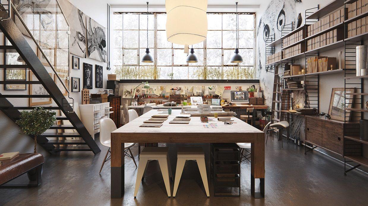 Industrial Scandinavian Artist Studio Gravityhomeblog Com Instagram Pinterest Bloglovin Gravity Home Studio Interior Artist Loft