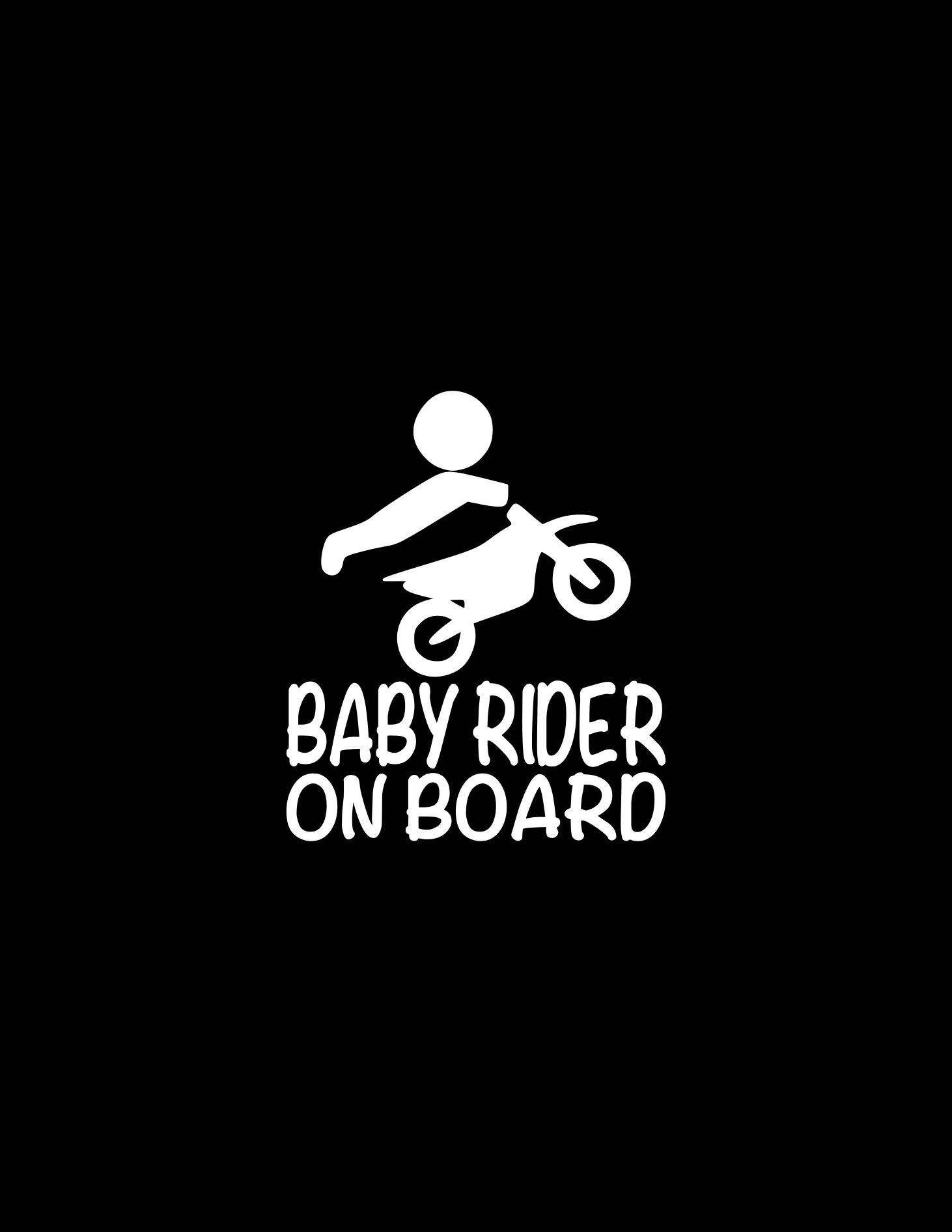 Baby Rider On Board Decal Dirt Bike Decal Dirt Biking Kid On Board Car Decal Baby On Board Car Decal Window Decal Wall Graffiti Logo Digital Word Art Lettering [ 1892 x 1462 Pixel ]