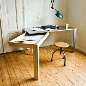 Escritorio plegable y desplegable para espacios peque os 1 - Escritorios para espacios reducidos ...