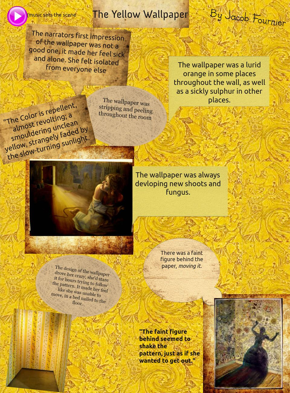 The Yellow Wallpaper Collage