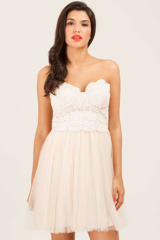 Little mistress cream floral lace prom dress wedding pinterest