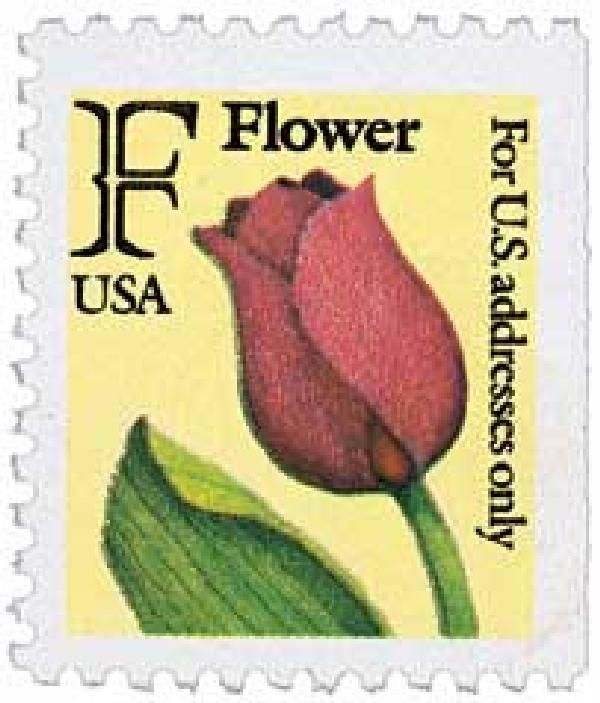 2519 1991 29c F Rate Flower Bep Booklet Single Flower Stamp Stamp Stamp Values