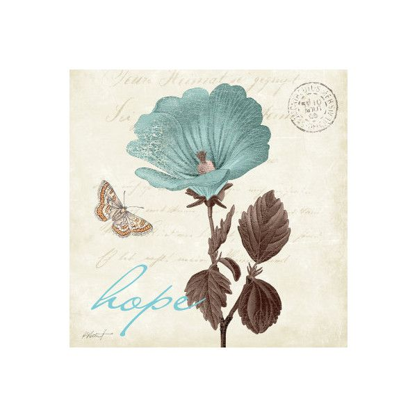 Touch of Blue III, Hope Wall Art Print ($12) ❤ liked on Polyvore featuring home, home decor, wall art, blue home decor, blue wall art and blue home accessories
