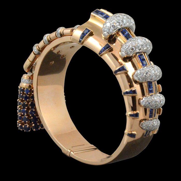 Ghiso Retro 18k Gold & Gem-Set Bracelet Retro gold and gem-set ...