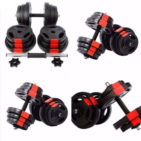 Halterstangen Bodybuilding, gewichten TNP Round Rubber Dumbbells ChromeSolid Cast Iron Rubber Coated Dumbbell Set Pair