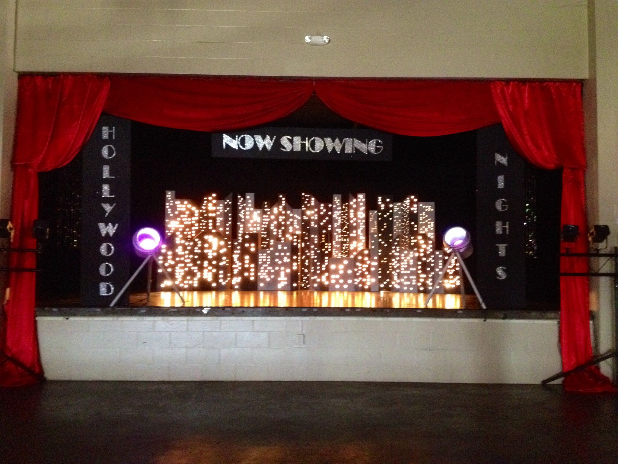Hollywood Theme Prom Stage Backdrop Reitz High School