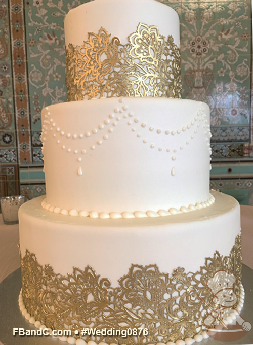 Design W 0876 Butter Cream Wedding Cake 12 9 6 Serves 100
