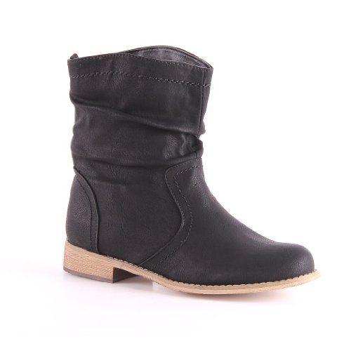 online shop mode günstig Jumex Stiefel Winter in schwarz