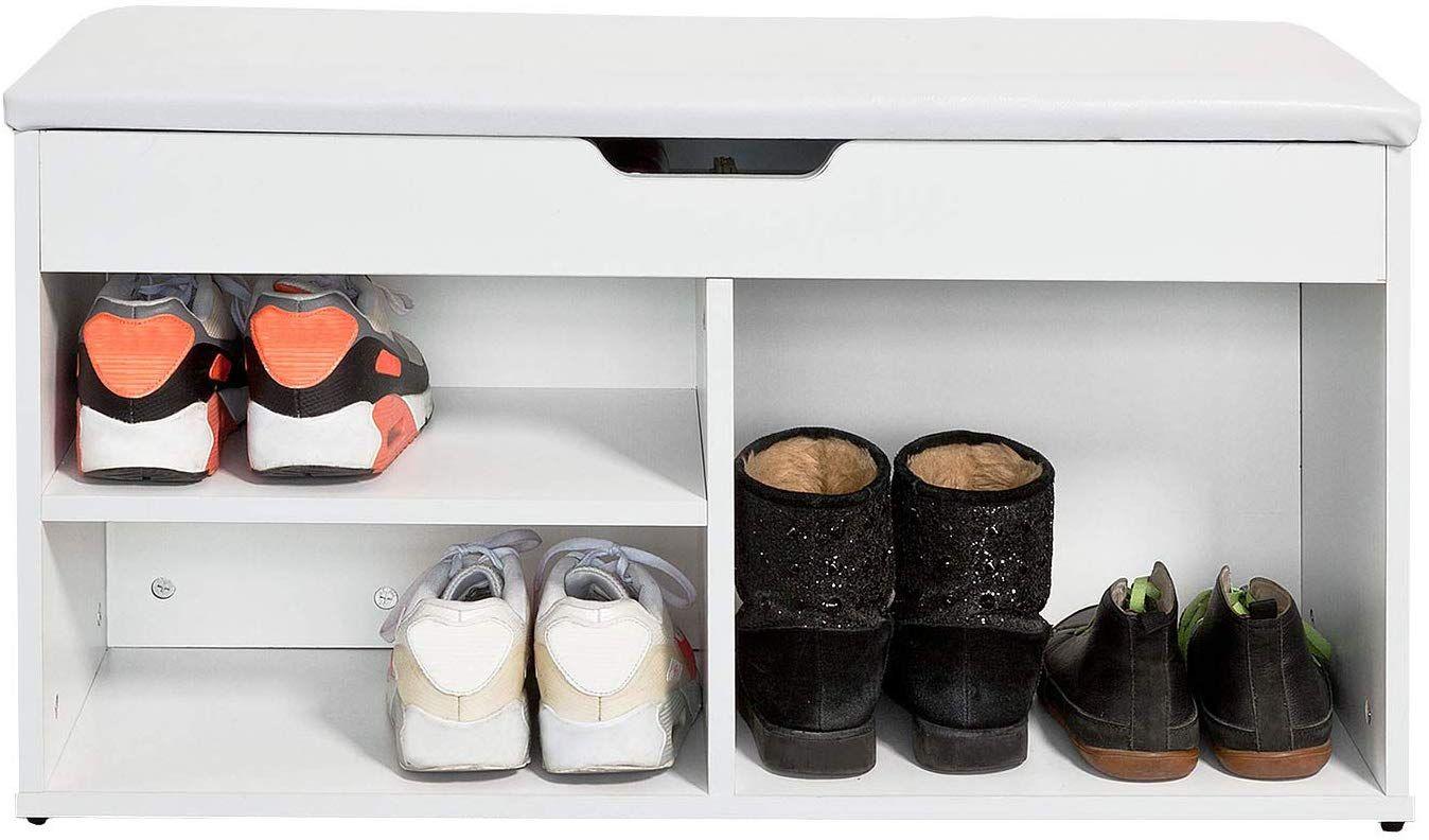 Sobuy Fsr27 W Banc Commode A Bottes Chaussures Avec Coussin Rembourre Meuble D Entree Blanc Amazon Fr Cuisine Mais Meuble Entree Mobilier De Salon Meuble