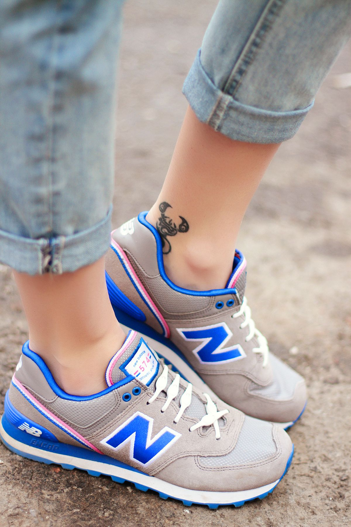 b5d1245b6ddc New Balance 574 featuring  HICKIESlaces