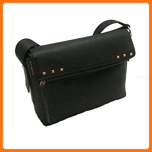 Calvin Klein Women s Hannah Shoulder Tote Bag Black - Top handle bags  ( Amazon Partner 9a536e4f13