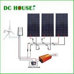 Dc House Usa Uk Stock 880w Hybrid Kit 400w Wind Turbine Generator 3x160w Solar Panel 1kw Inverter Solar Panels Solar Kit Solar Panel Cost