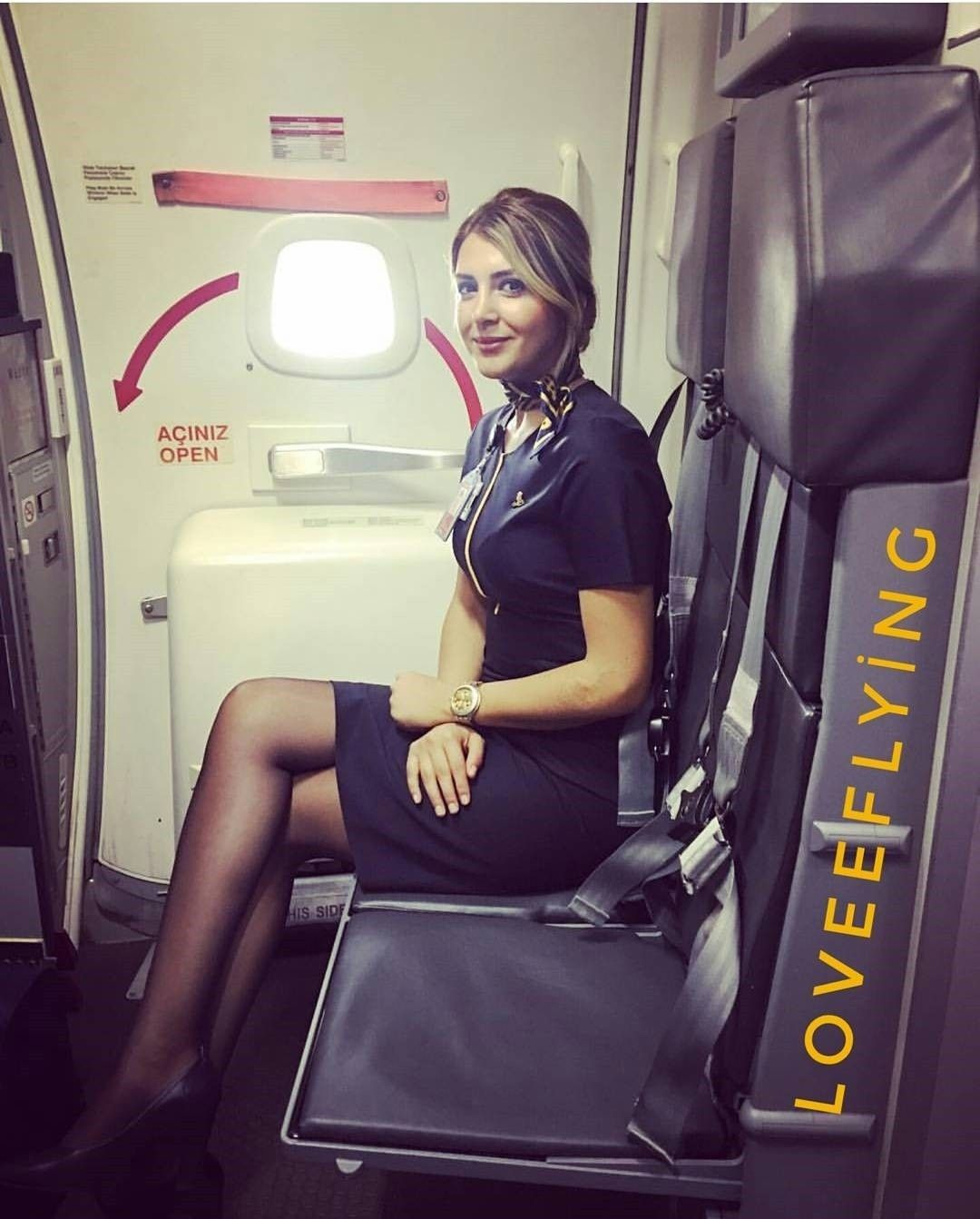 Girl too sexy for airplane