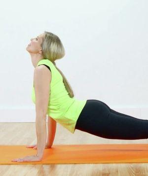 how to do the upward dog yoga pose video  exercise