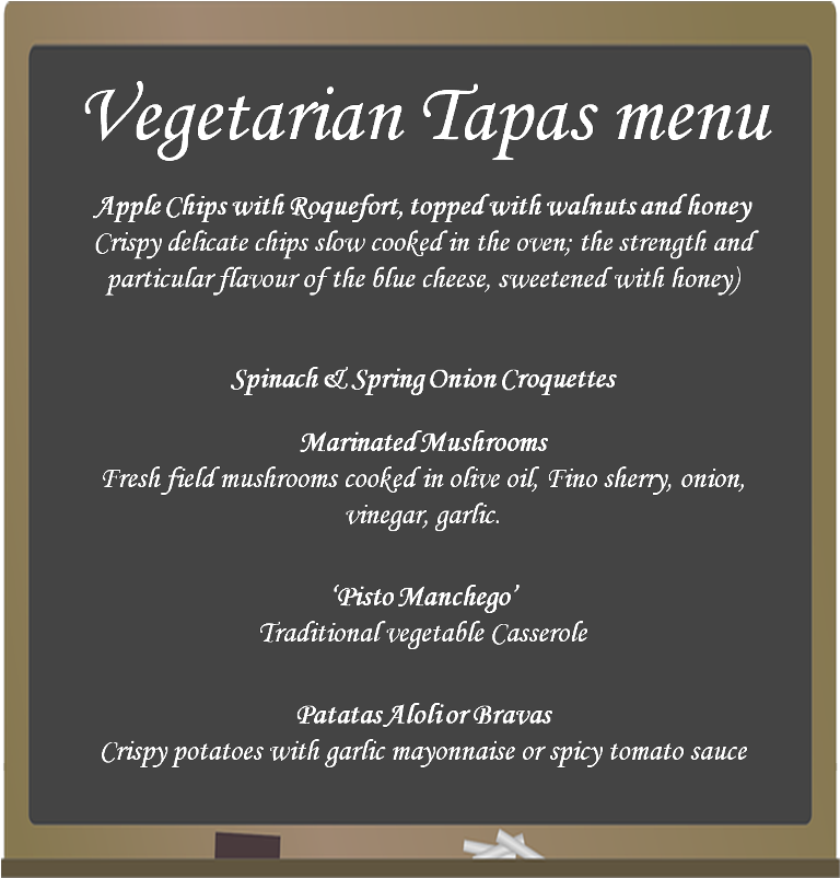 Christmas Tapas Menu