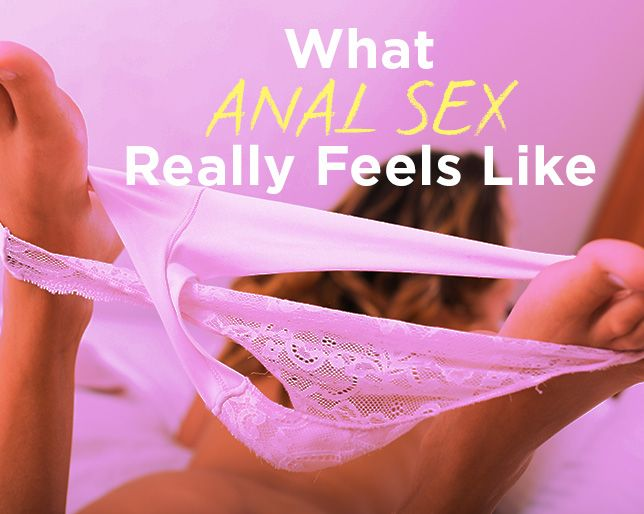 Aftermath of anal sex you