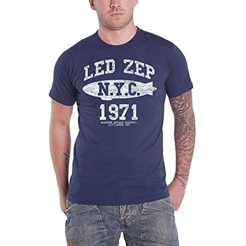 pretty nice 2e127 7bd3b LED Zeppelin T Shirt NYC 1971 Blimp Band Logo Nue offiziell ...