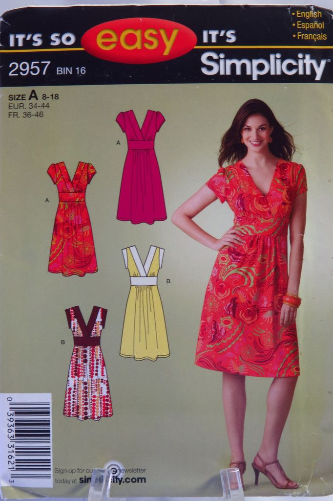 Simplicity 2957 Misses Dress Sewing Patterns Pinterest Sewing