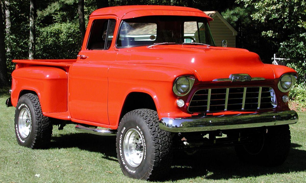 Truck chevy 1955 truck : custom 1955 chevy's   rate : 1955 CHEVROLET STEPSIDE 4X4 CUSTOM ...