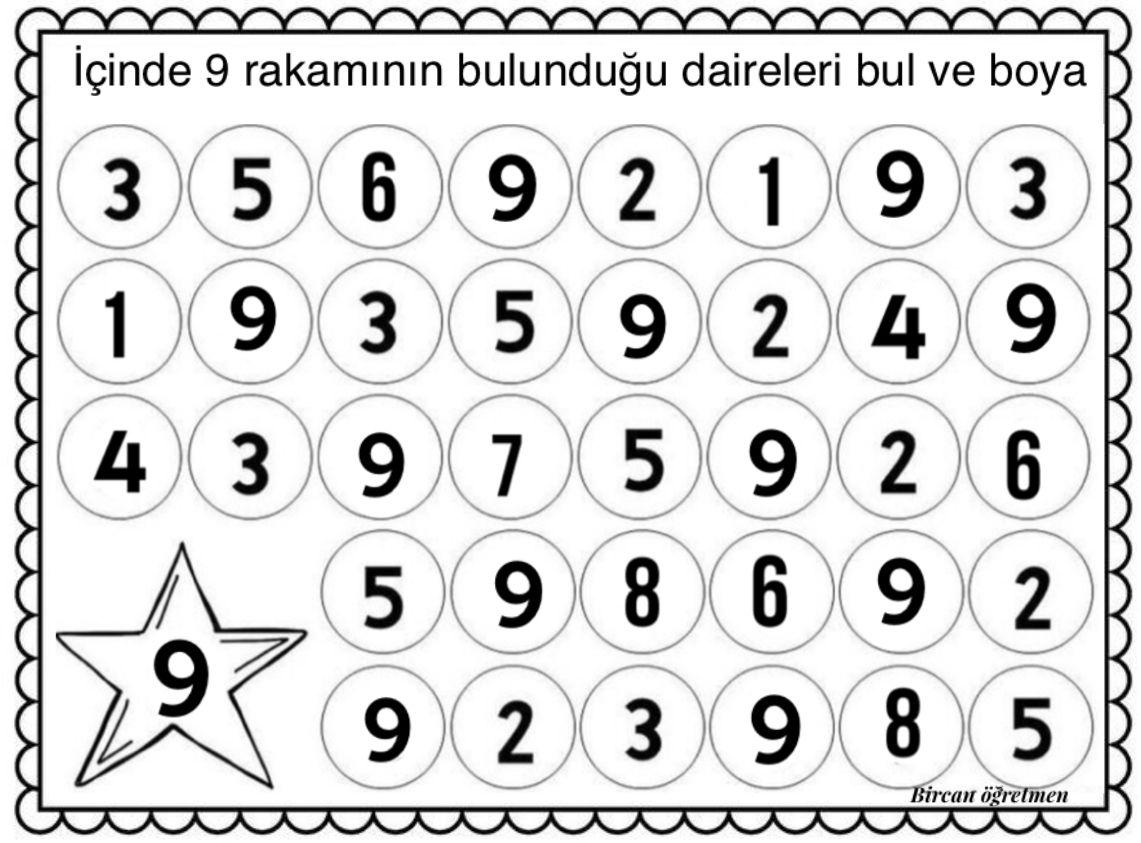 9 Rakami 2020 Matematik Okul Oncesi Okuma