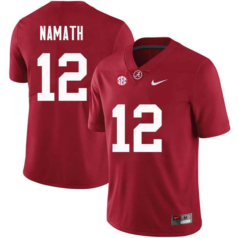 lowest price e6a1e 1c852 Men #12 Joe Namath Alabama Crimson Tide College Football ...