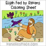 Elijah Fed By The Ravens Coloring Sheet Sunday School Kids