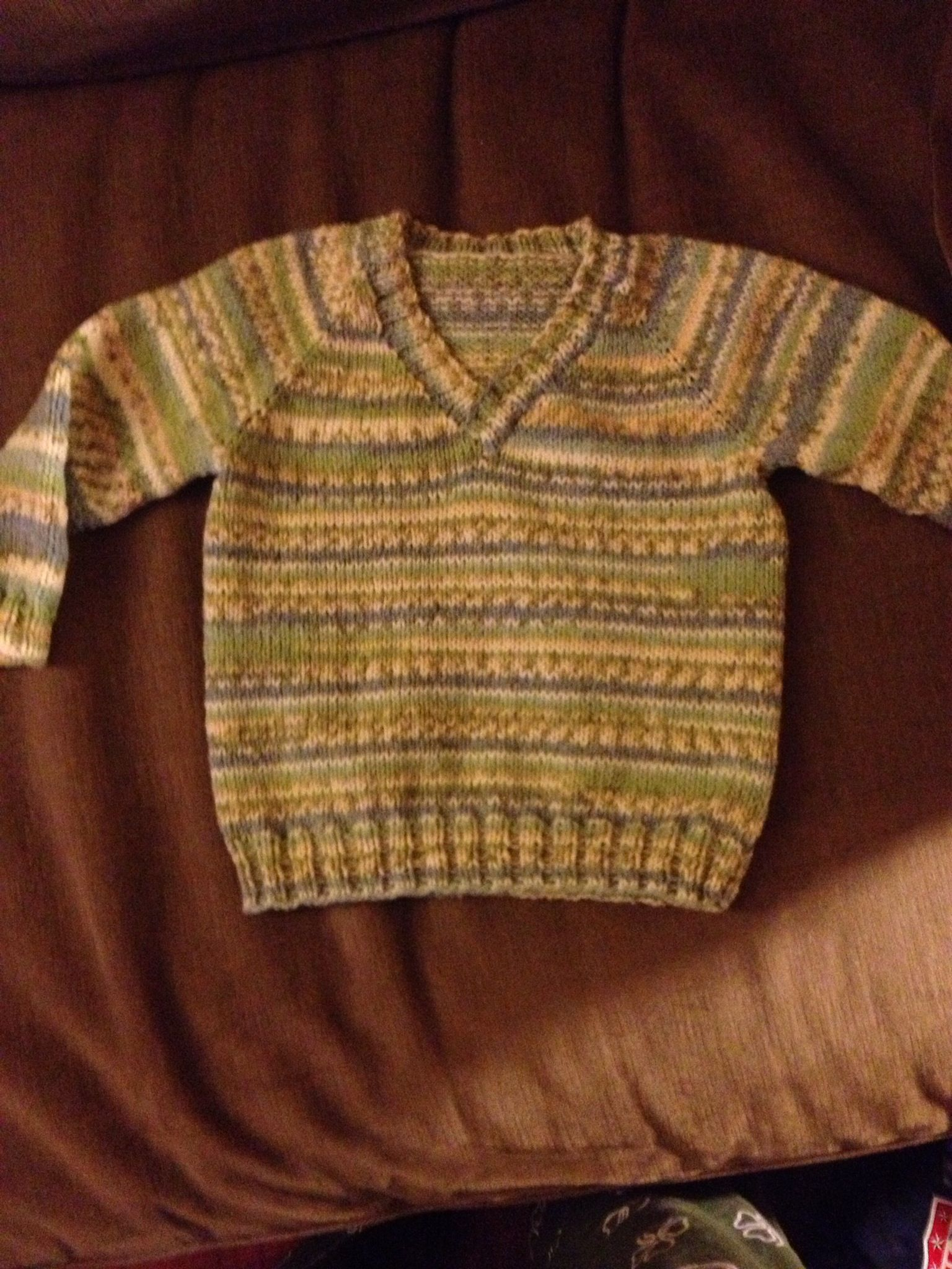 77d7a4226 My latest project...I found this great fair isle self patterning ...