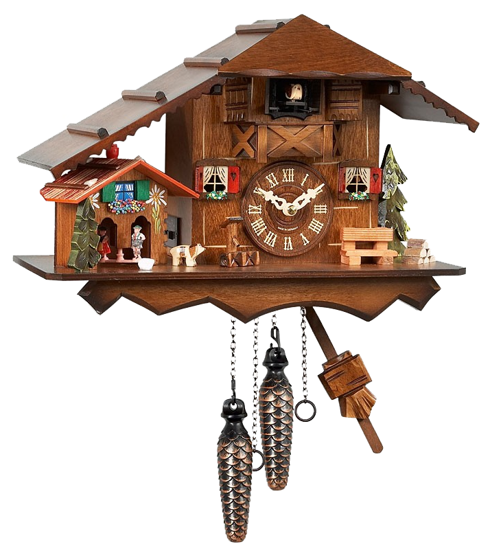 Beautiful Battery Powered Black Forest Chalet Cuckoo Clock With A Little Weather House Cuckoo Bird Is Calling Hourly Weather Cuckoo Clock Clock Wall Clock