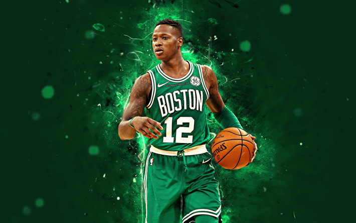 Download wallpapers Terry Rozier, 4k, abstract art, NBA