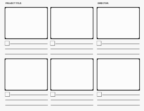 Storyboard Templates  Storyboard Procedural Writing And French