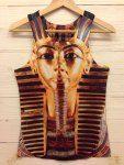 Stylish Round Neck 3D Egyptian King Print Polyester Vest For Men