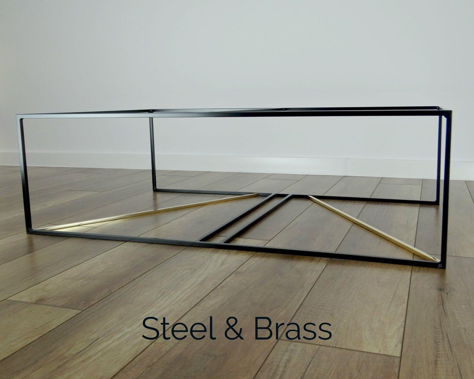 Metal Coffee Table Base 100x60cm Inka Brass And Steel Large Modern Coffee Table Base Black Coffee Table Frame Coffee Table Coffee Table Frame Metal Coffee Table