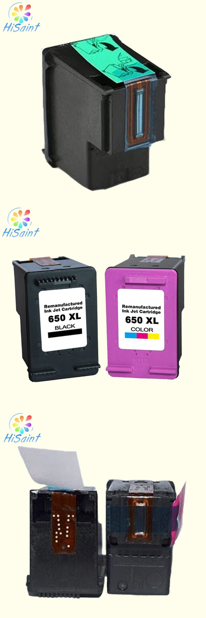650 650xl Ink Cartridge For Hp Compatible Cz101a Cz102a Head Canon Ix6560 Deskjet 1015 1515 2515 2545 2645 3515 4645 Printer With Chip