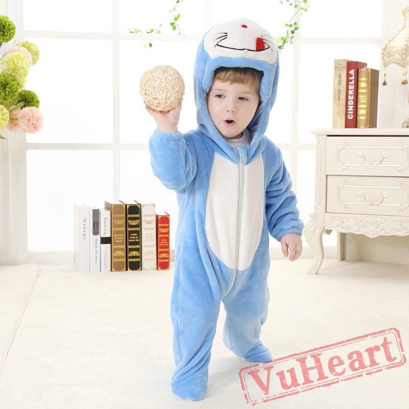 1caed1a81b97 Doraemon Cartoon Kigurumi Onesies Pajamas Costumes Spring for Baby ...